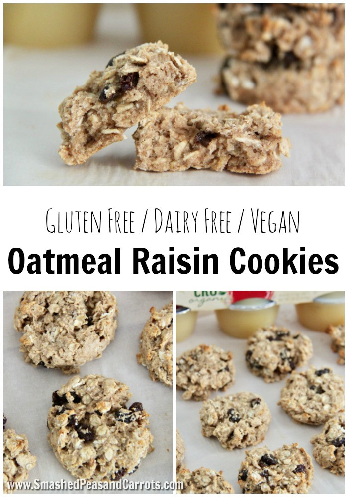 Vegan Oatmeal Raisin Cookies  The Best Gluten Free Vegan Oatmeal Raisin Cookies