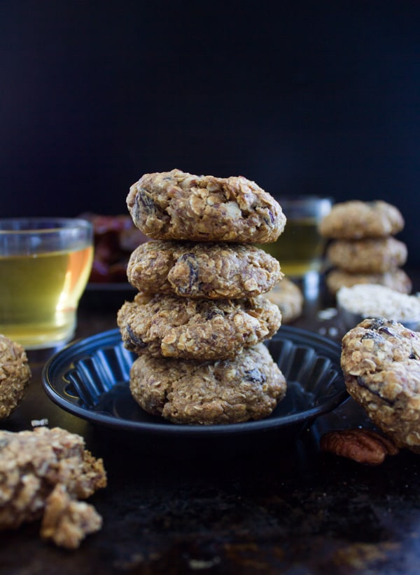 Vegan Oatmeal Raisin Cookies  Vegan Oatmeal Raisin Cookies • Two Purple Figs