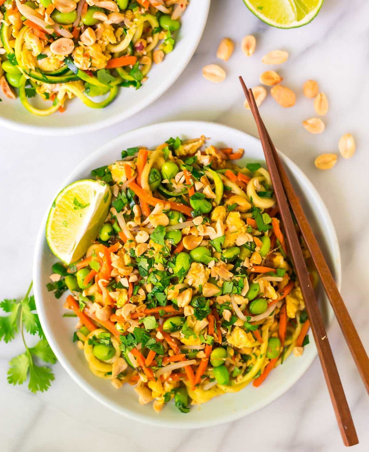 Vegan Pad Thai  Ve arian Pad Thai with Zoodles