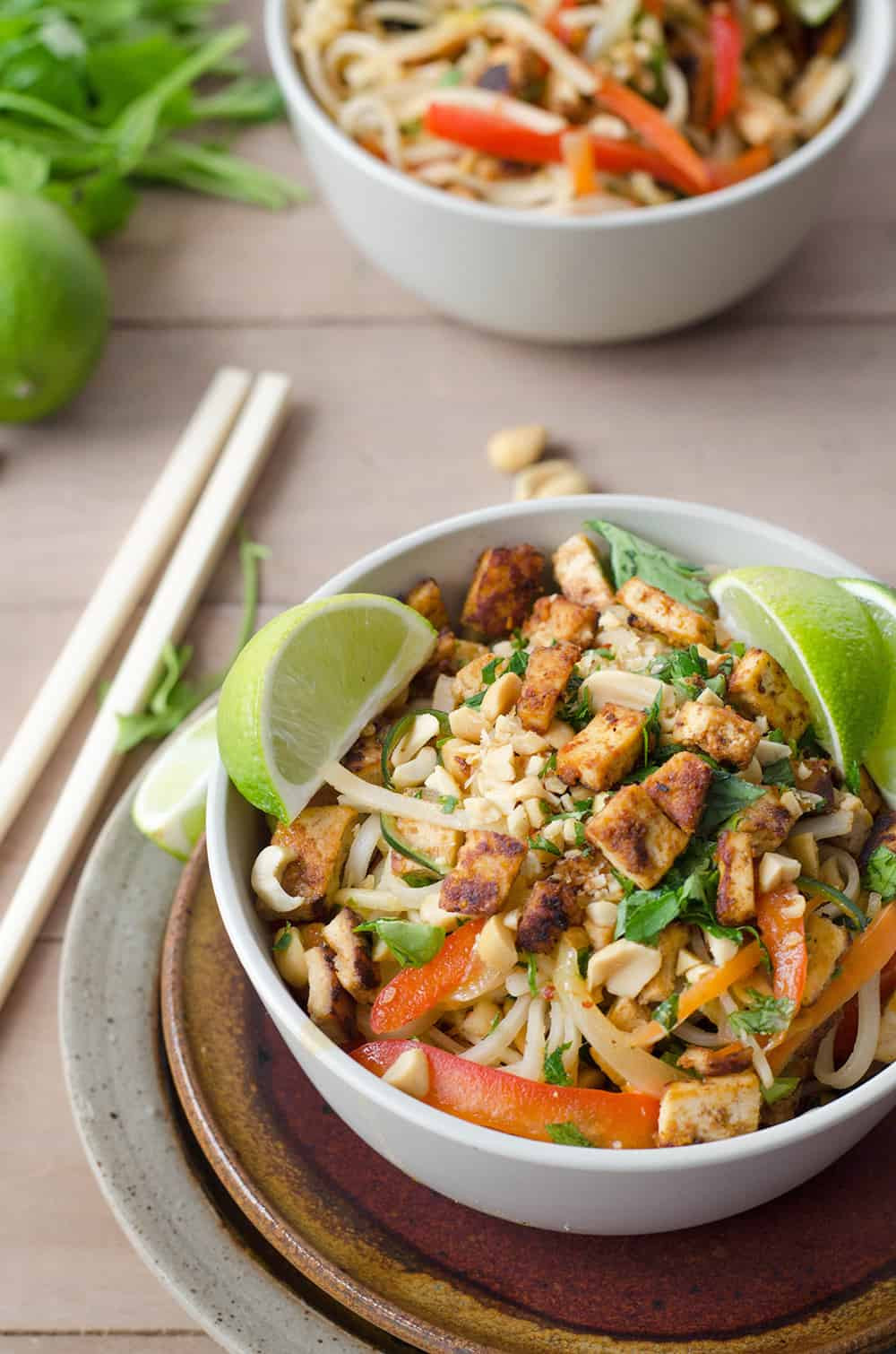 Vegan Pad Thai  Spicy Vegan Pad Thai Delish Knowledge