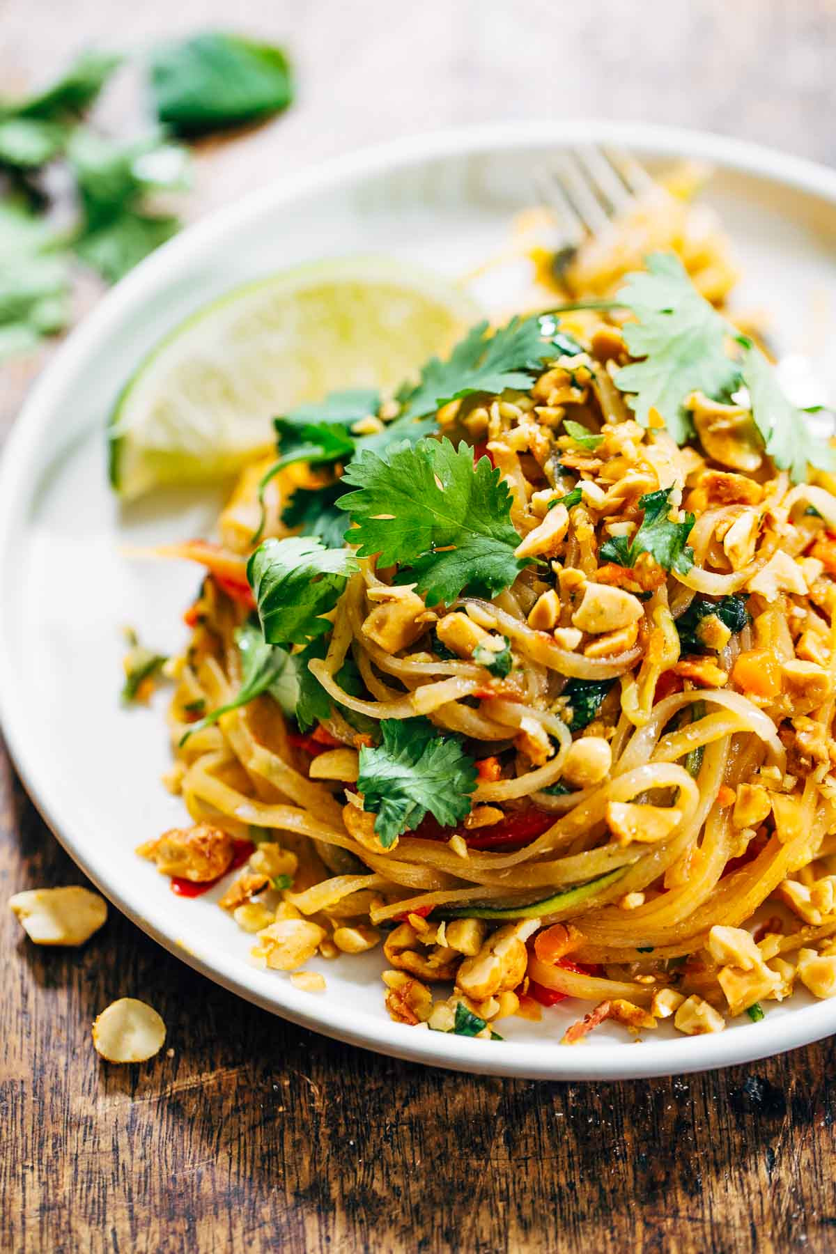 Vegan Pad Thai  Rainbow Ve arian Pad Thai with Peanuts and Basil Pinch