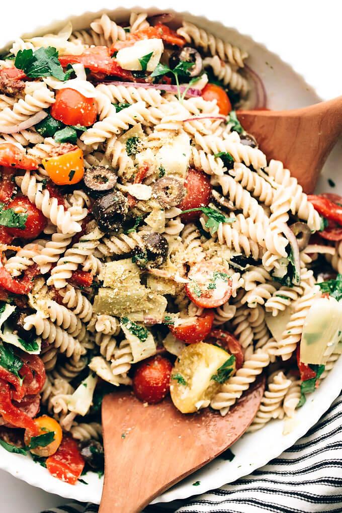 Vegan Pasta Salad  Easy Vegan Italian Pasta Salad Blissful Basil