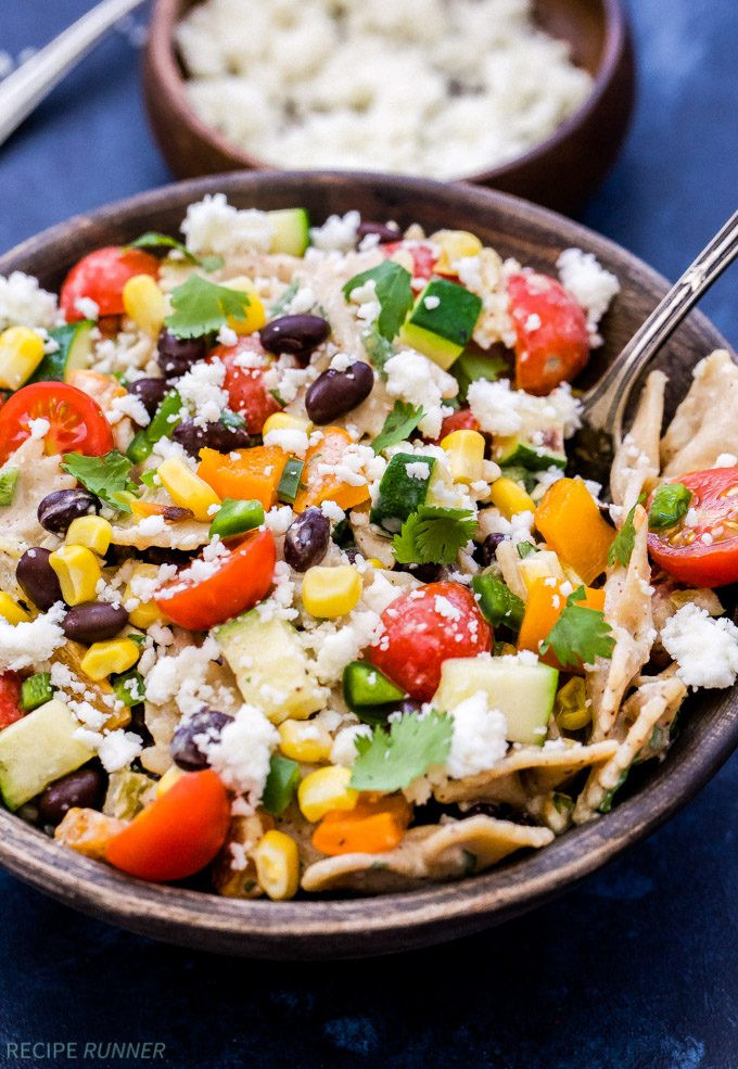 Vegan Pasta Salad  Creamy Southwest Ve arian Pasta Salad Recipe Runner