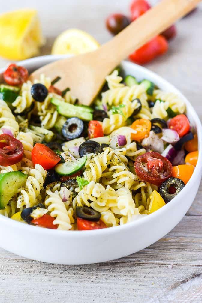 Vegan Pasta Salad  Vegan Italian Pasta Salad Healthier Steps