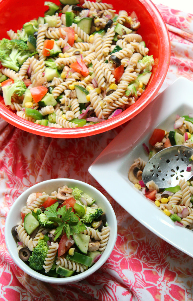 Vegan Pasta Salad  Summer Veggie Pasta Salad