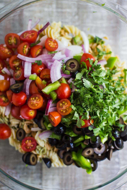 Vegan Pasta Salad  Quick & Easy Pasta Salad