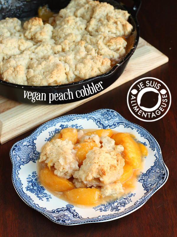 Vegan Peach Cobbler  Vegan Peach Cobbler The Viet Vegan