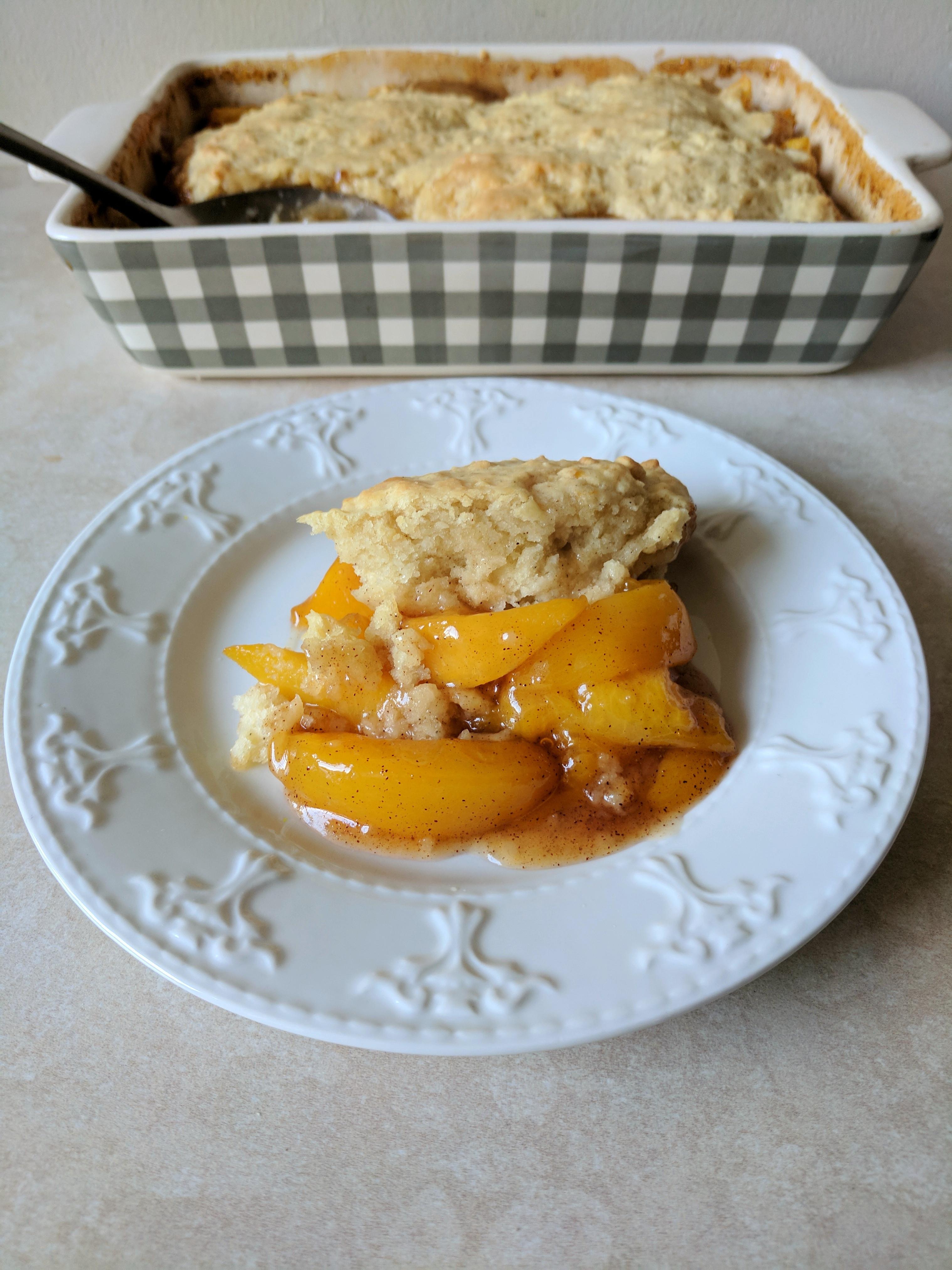 Vegan Peach Cobbler  Vegan Peach Cobbler Vegan And Proud Blog