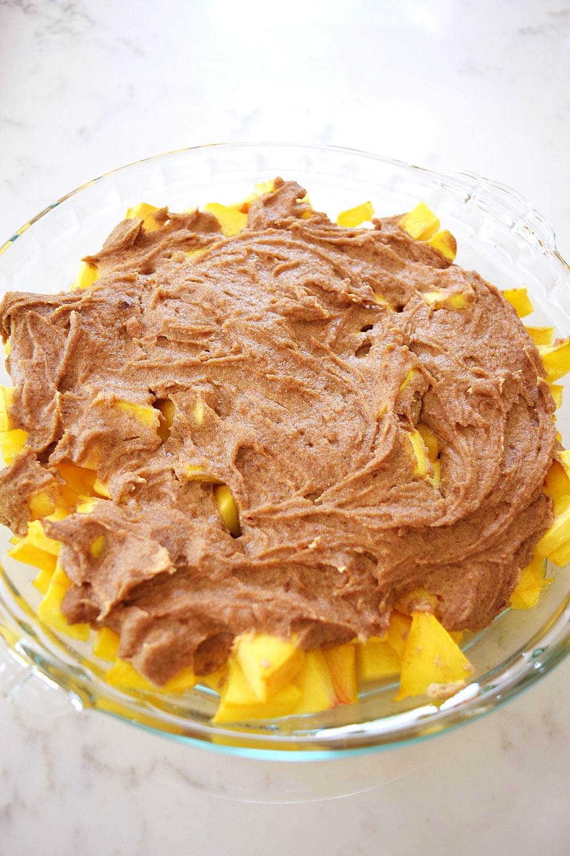 Vegan Peach Cobbler  Vegan Peach Cobbler Beaming Banana
