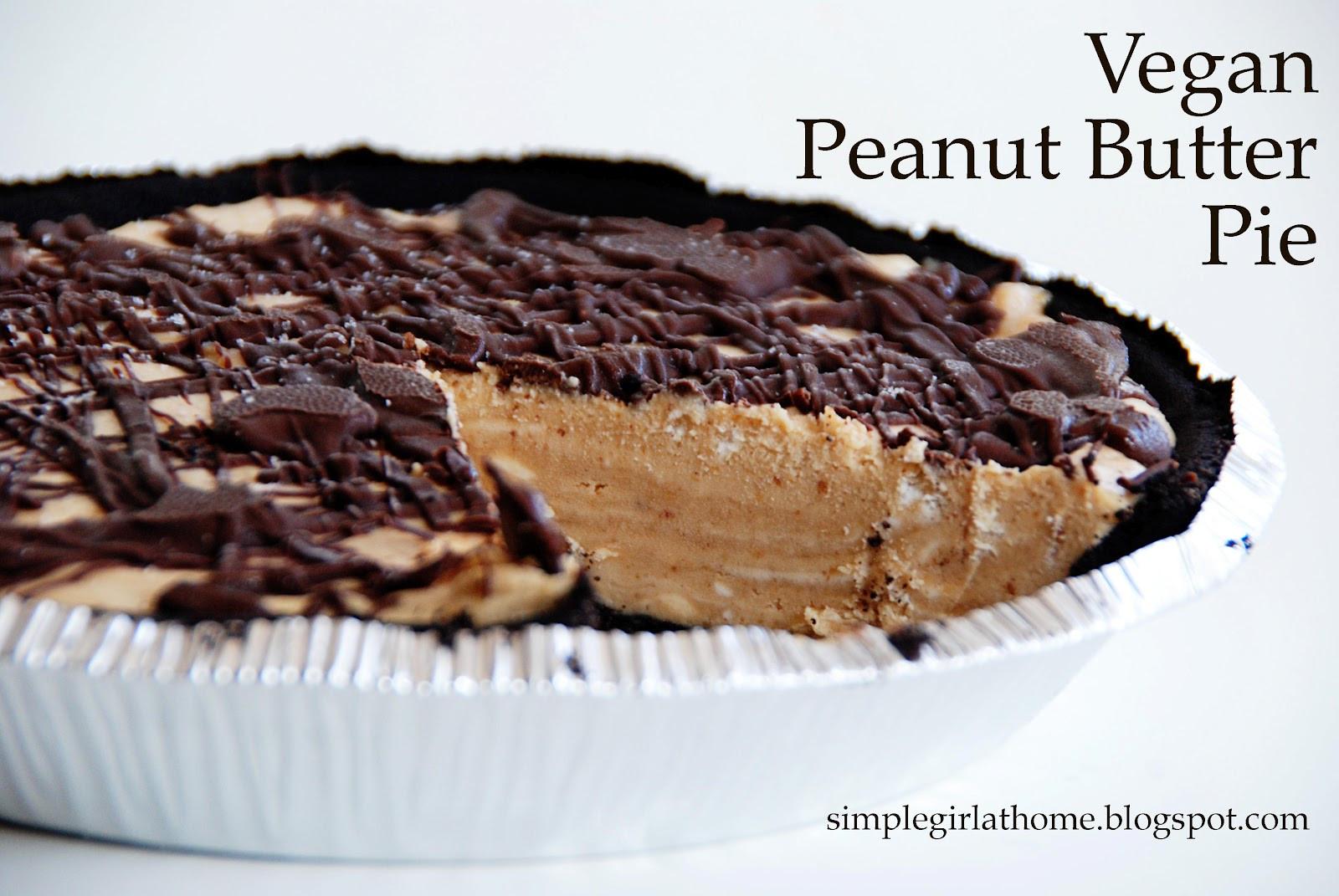 Vegan Peanut Butter Pie  Simple Girl Vegan Peanut Butter Pie