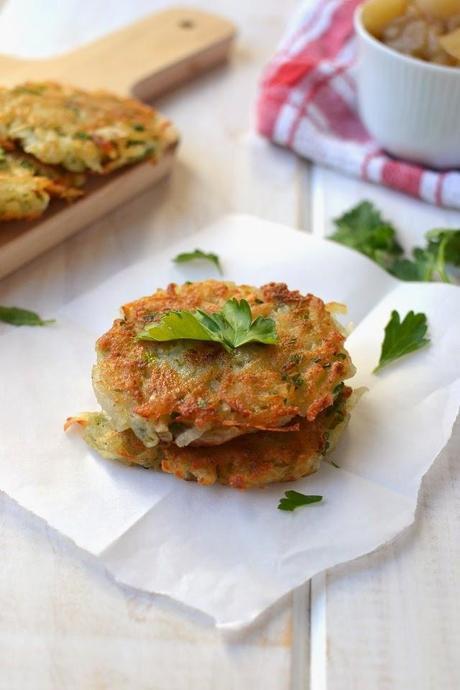 Vegan Potato Pancakes  Potato Latkes Eggless Vegan Recipe with Chunky