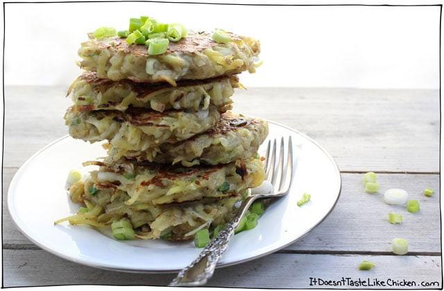 Vegan Potato Pancakes  Vegan Potato Pancakes • It Doesn t Taste Like Chicken
