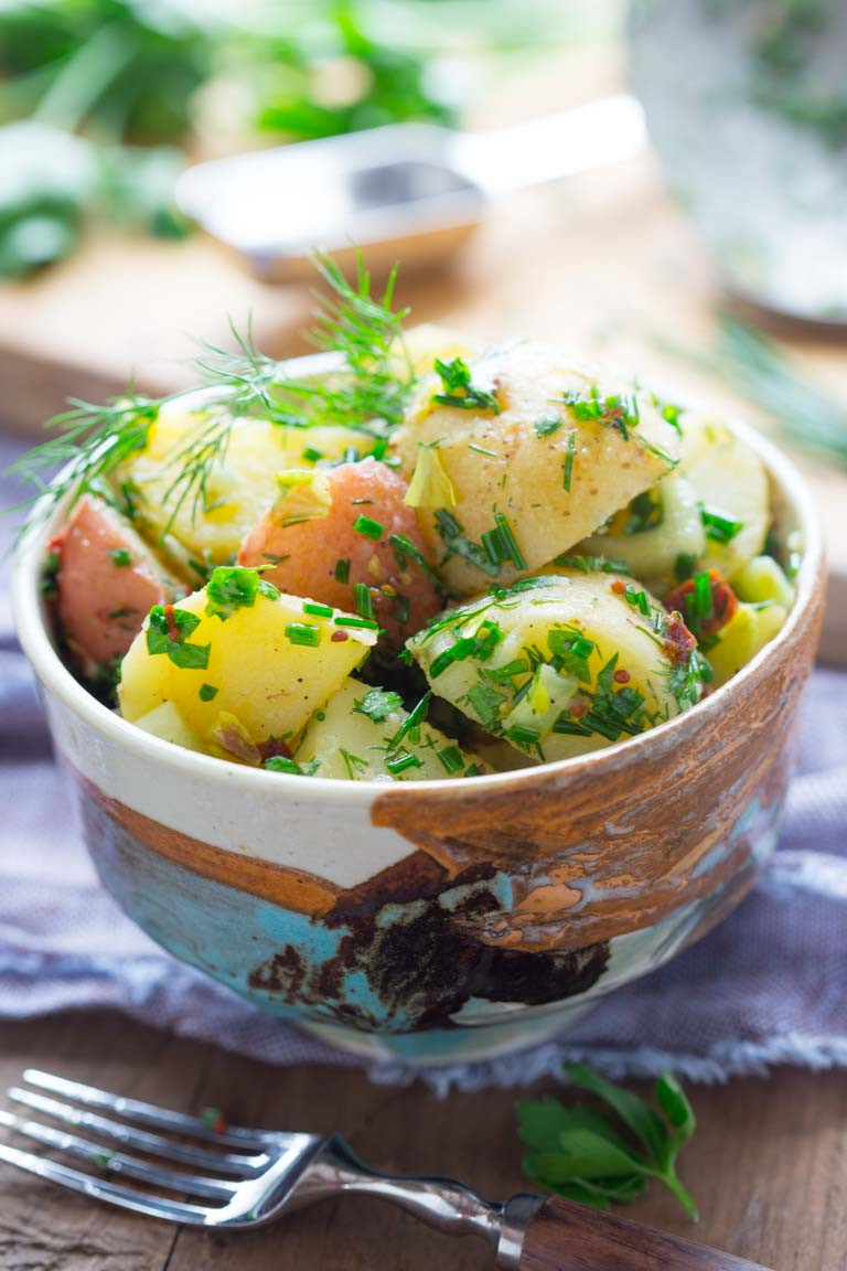 Vegan Potato Salad vegan potato salad with herbs Healthy Seasonal Recipes