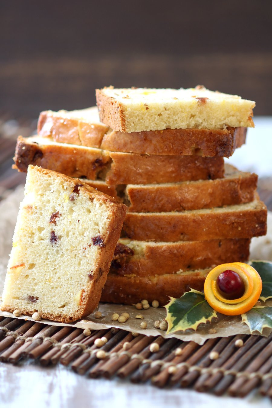 Vegan Pound Cake  Vegan Orange Cranberry Coriander Pound Cake