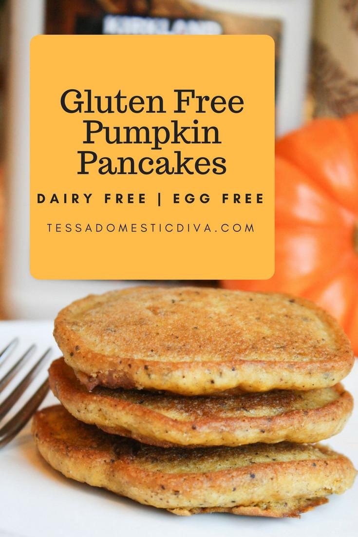 Vegan Pumpkin Pancakes  Pumpkin Pancakes Gluten Free Vegan Tessa the Domestic
