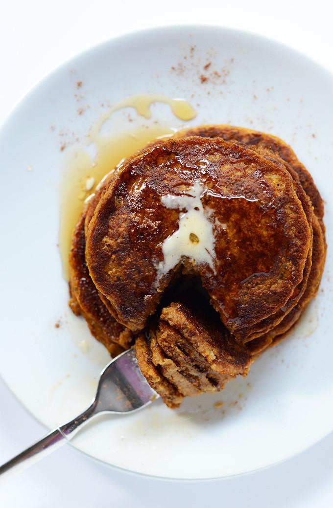 Vegan Pumpkin Pancakes  Vegan Pumpkin Pancakes