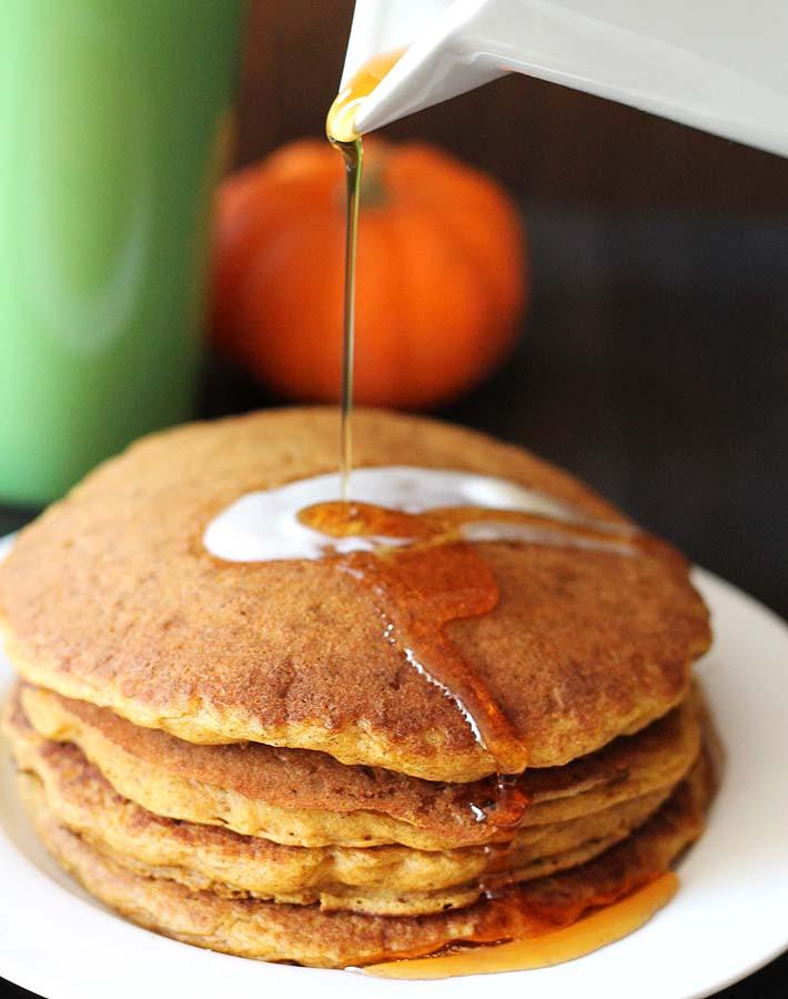 Vegan Pumpkin Pancakes  Vegan Gluten Free Pumpkin Pancakes Delightful Adventures