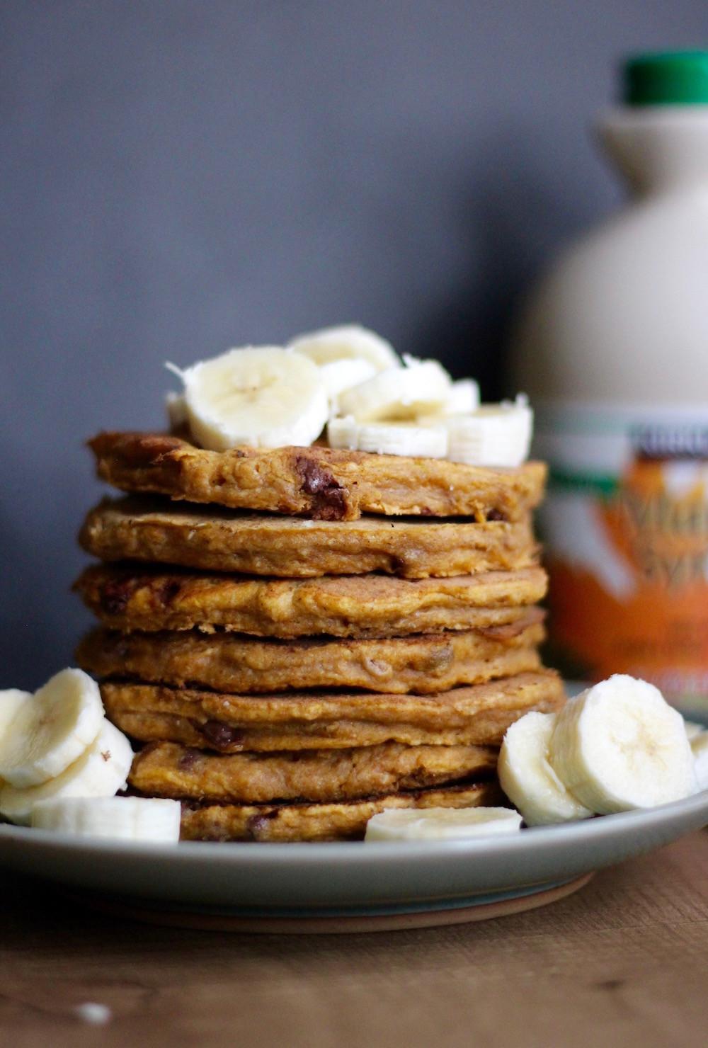 Vegan Pumpkin Pancakes  Whole Wheat Vegan Pumpkin Pancakes