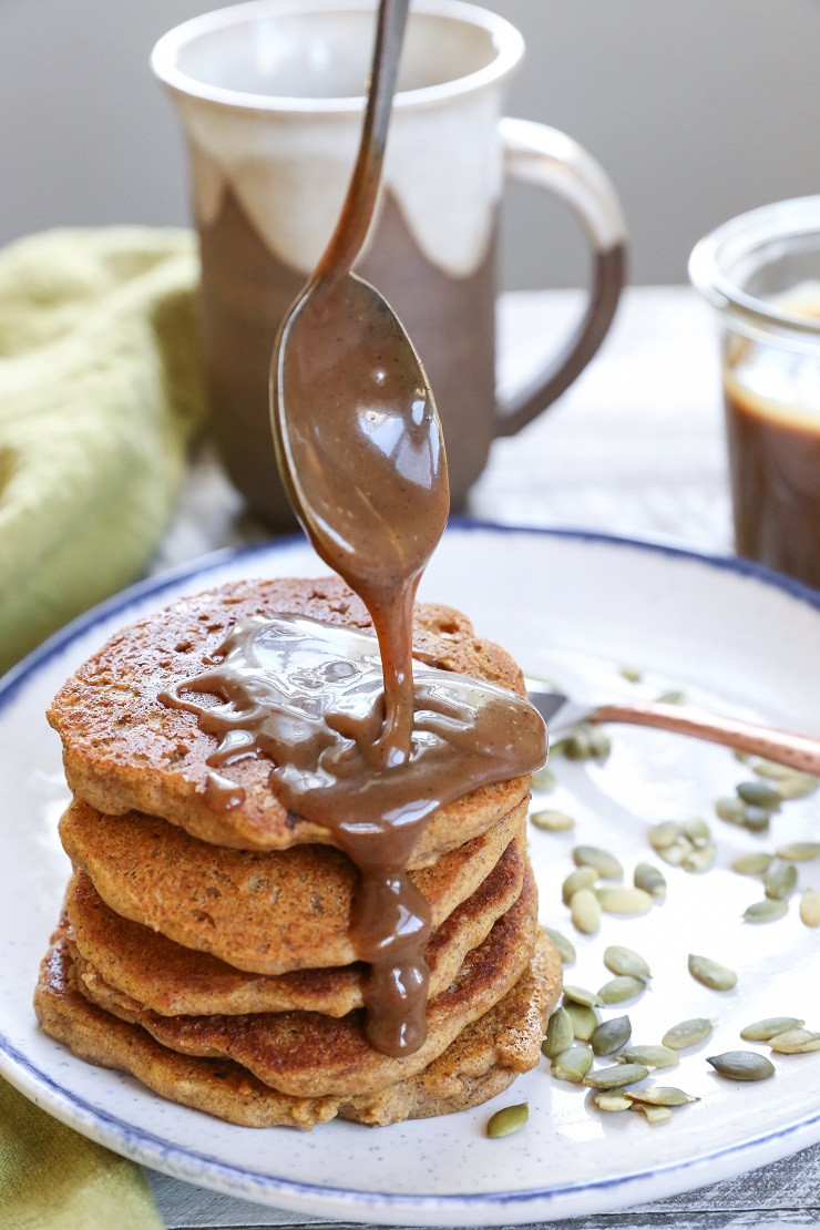Vegan Pumpkin Pancakes  Vegan Pumpkin Pancakes The Roasted Root