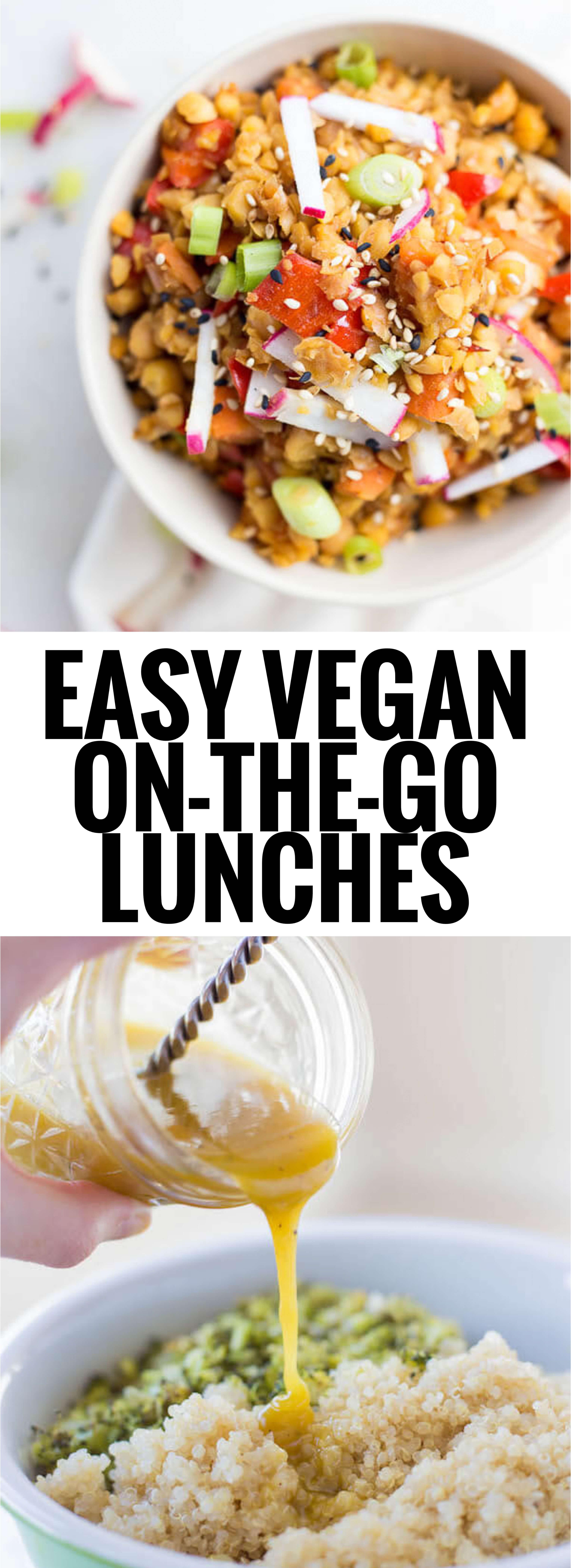 Vegan Recipes Easy  Easy Vegan the Go Lunches Fooduzzi