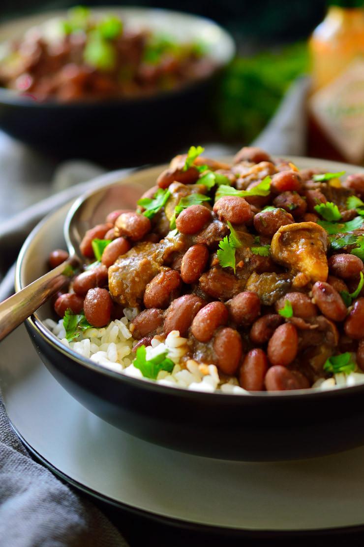 Vegan Red Beans And Rice  Vegan Red Beans and Rice with Smoky Mushrooms Cilantro
