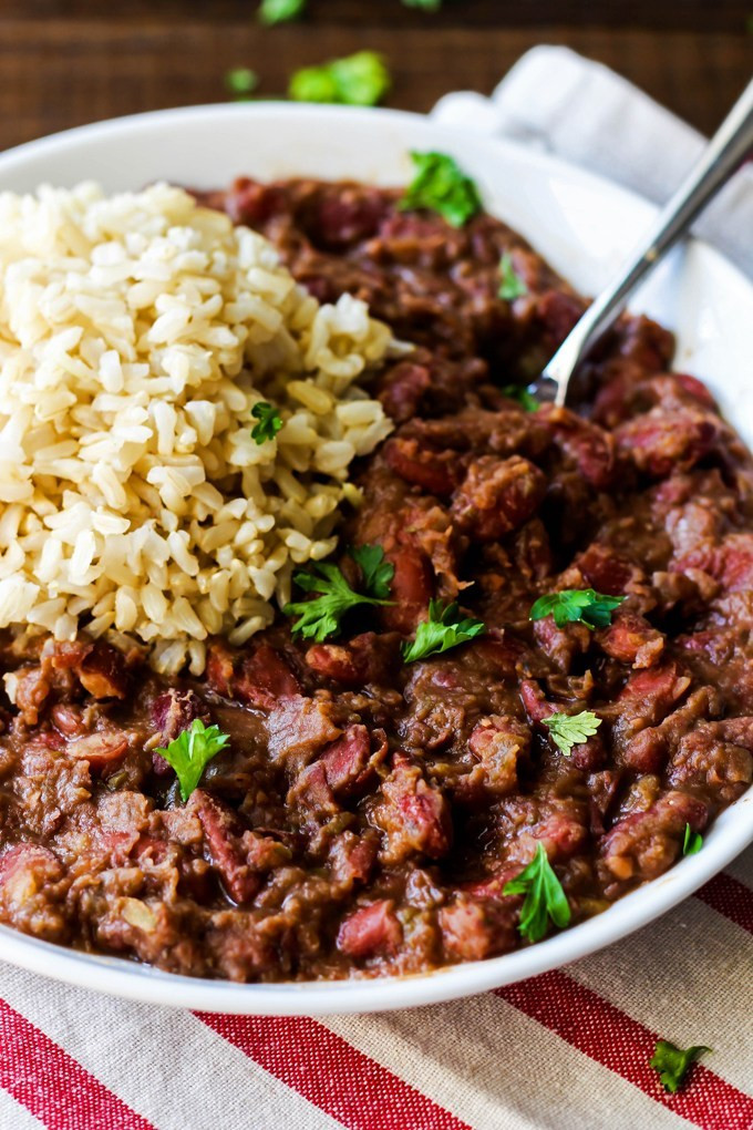 Vegan Red Beans And Rice  Cajun Style Vegan Red Beans and Rice