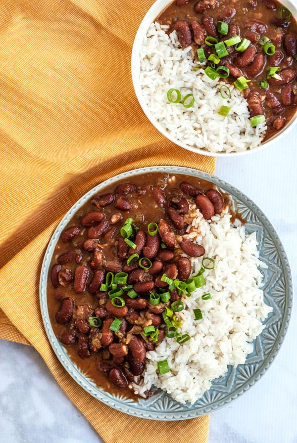 Vegan Red Beans And Rice  Ve arian Red Beans and Rice The Pretend Baker