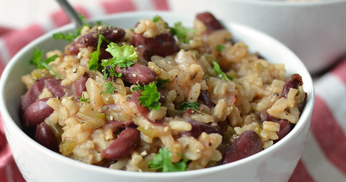 Vegan Red Beans And Rice  Slow Cooker Vegan Red Beans and Rice