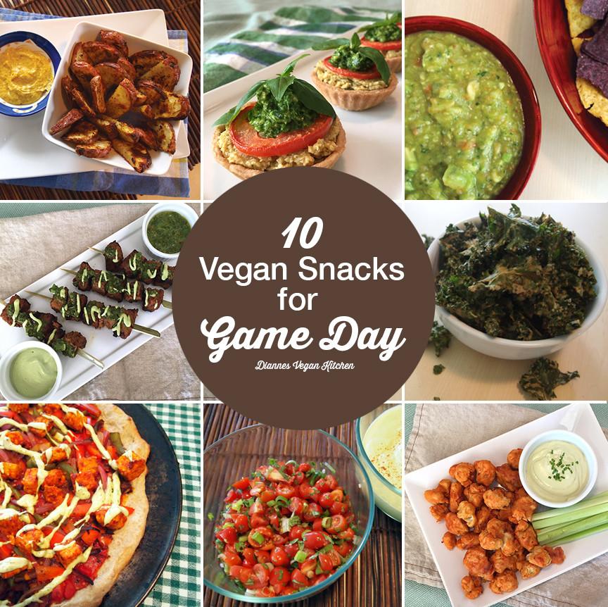 Vegan Snack Recipes  10 Vegan Snack Recipes for Game Day Dianne s Vegan Kitchen