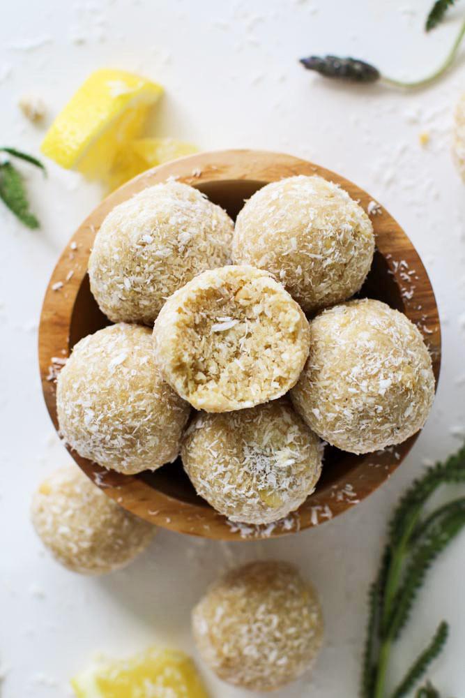 Vegan Snack Recipes  Vegan Snack Recipes Lemon Lavender Energy Bites