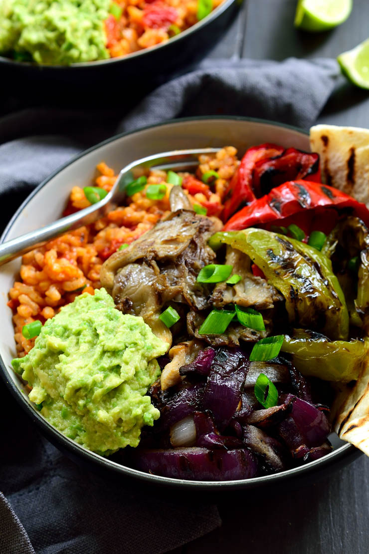 Vegan Spanish Rice  Vegan Mexican Rice Fajita Bowl