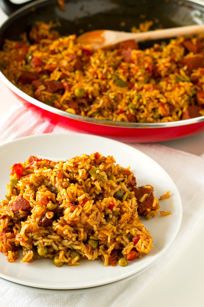Vegan Spanish Rice  Simple Vegan Spanish Rice with Chorizo