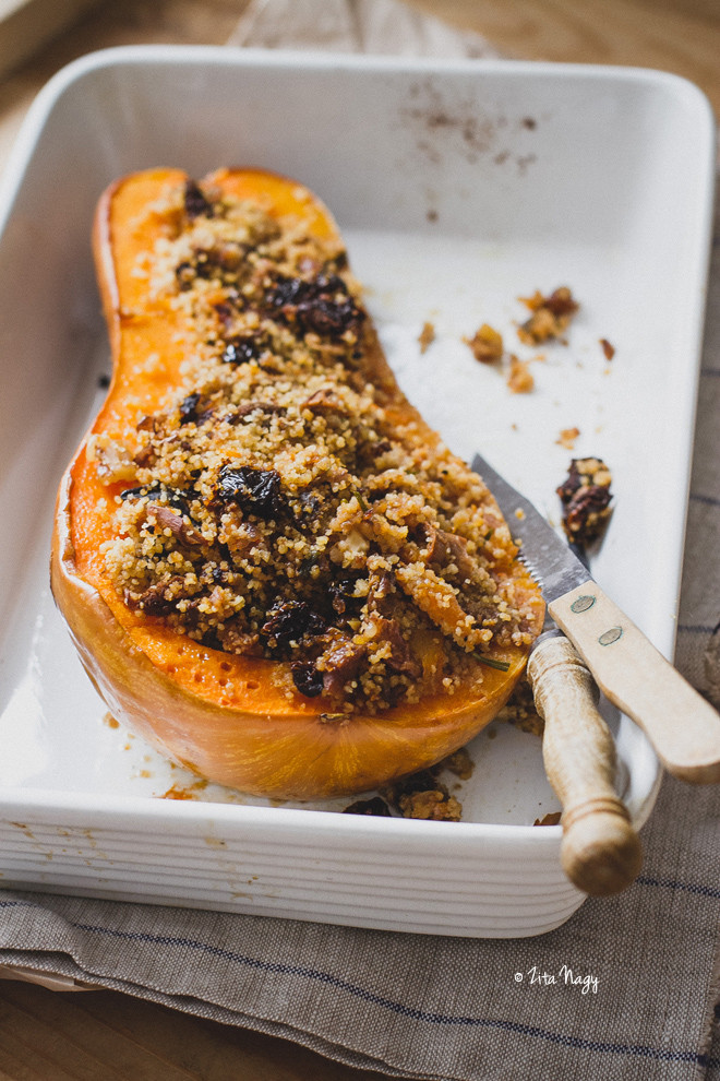 Vegan Squash Recipes  Vegan Stuffed Butternut Squash with Mushrooms and Couscous