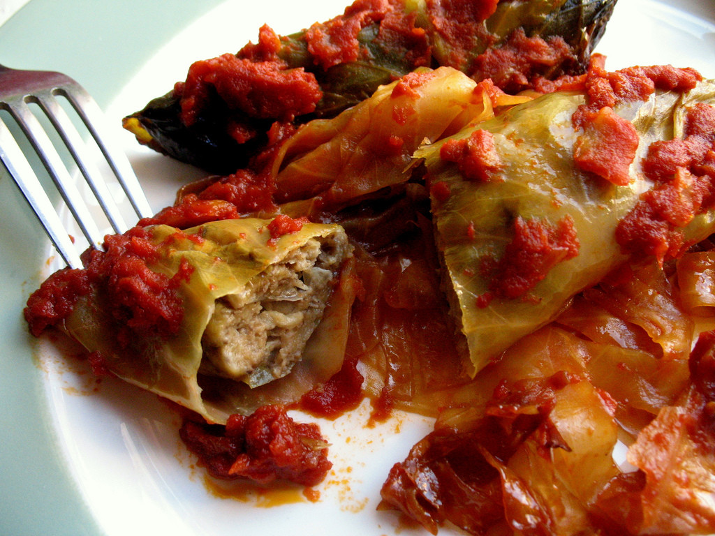 Vegan Stuffed Cabbage  Ve arian Stuffed Cabbage – Not Eating Out in New York