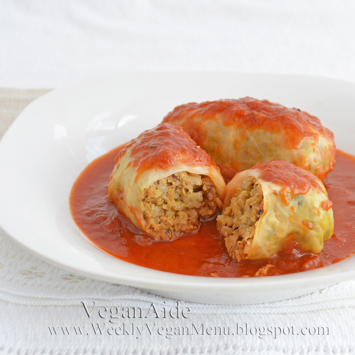 "Vegan Stuffed Cabbage  Zsu s Vegan Pantry stuffed cabbage ""grills gone vegan"