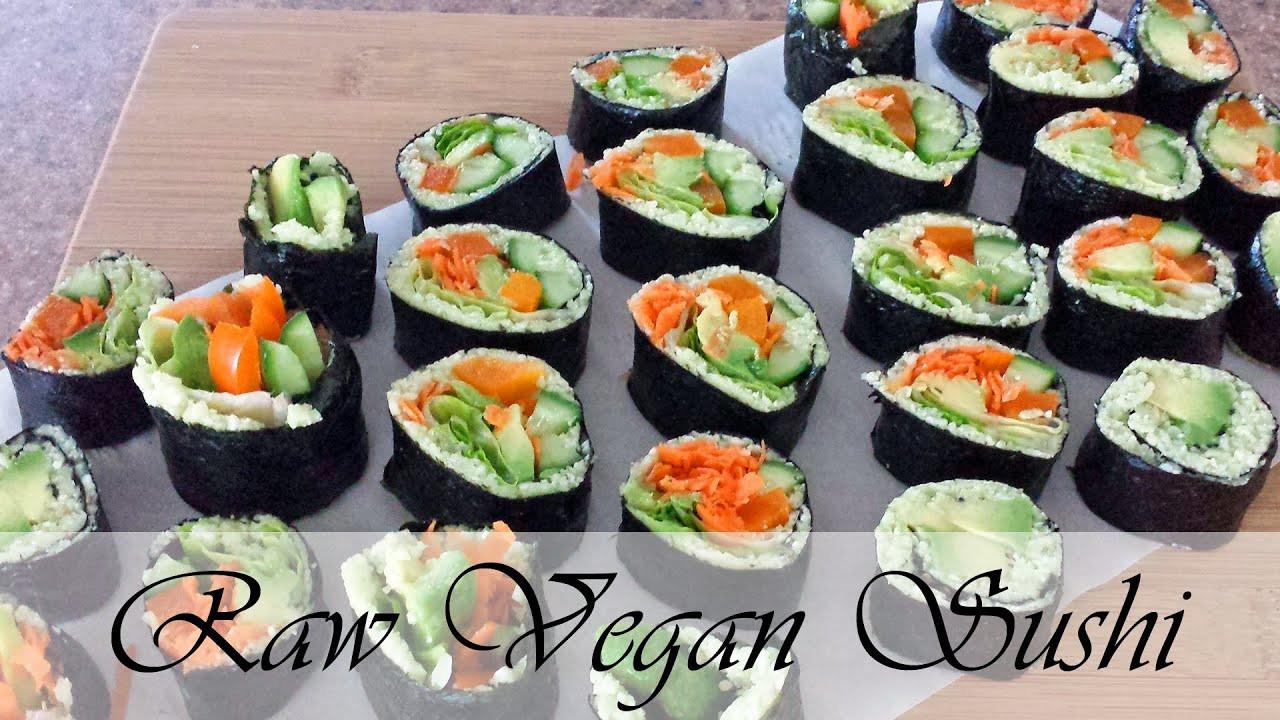 Vegan Sushi Recipes  Raw Vegan Sushi Recipe cauliflower rice sushi