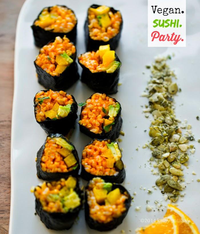 Vegan Sushi Recipes  Golden Avocado Sushi Roll Creative Vegan Sushi 101