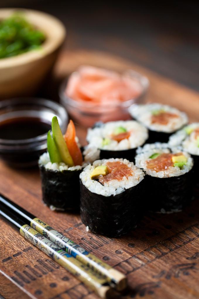 Vegan Sushi Recipes  Easy Vegan Sushi with Tomato Spicy Tuna