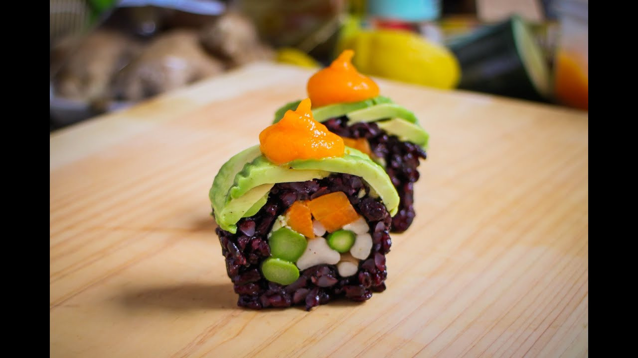 Vegan Sushi Recipes  Vegan Sushi Roll Recipe Amazing Vegan Food Recipe
