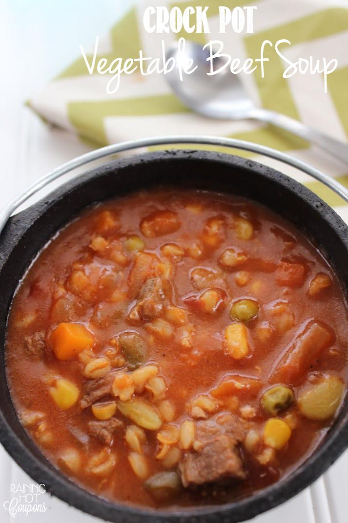 Vegetable Beef Soup Crock Pot  Tortilla Crusted Tilapia Recipe Raining Hot Coupons