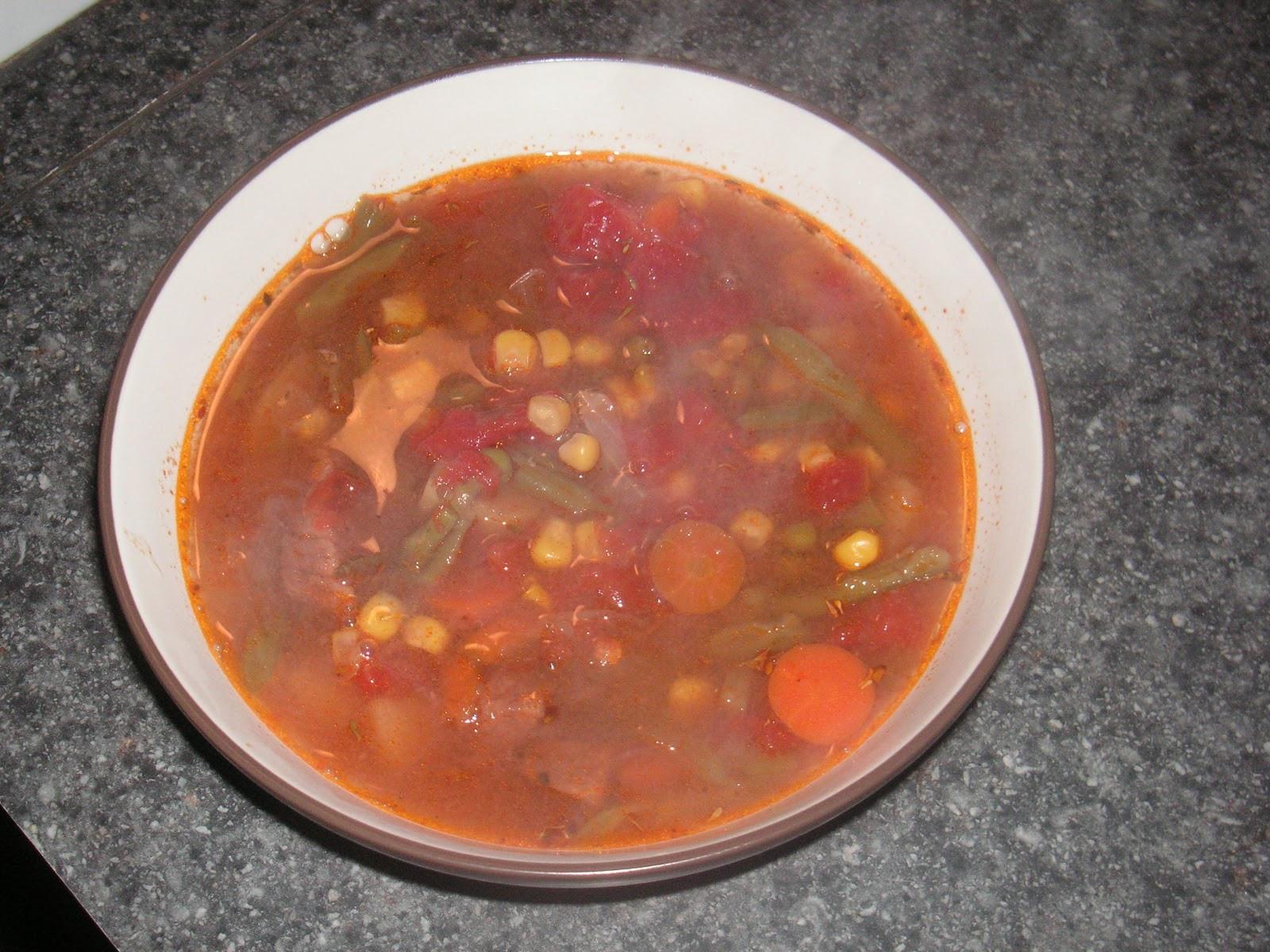 Vegetable Beef Soup Crock Pot  Crock Pot Beef Ve able Soup Hezzi D s Books and Cooks