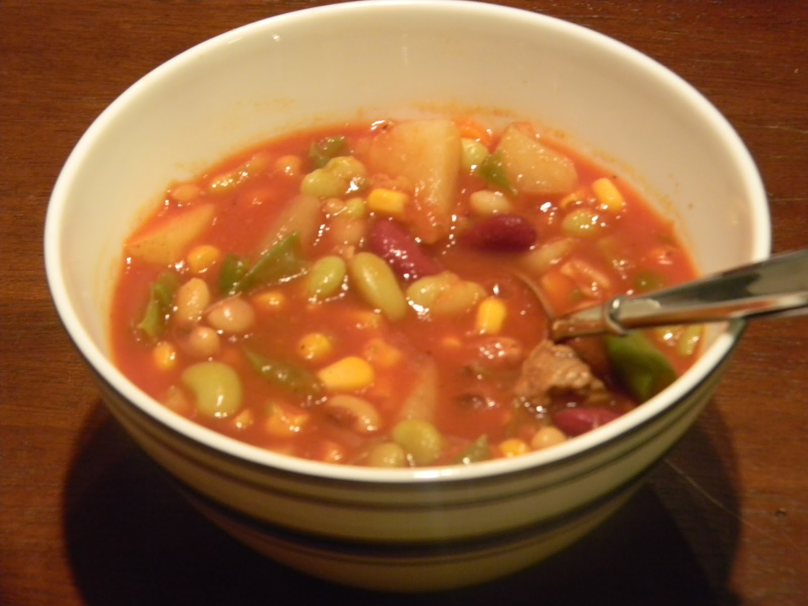 Vegetable Beef Soup Crock Pot  e Day At A Time From My Kitchen To Yours Crock Pot