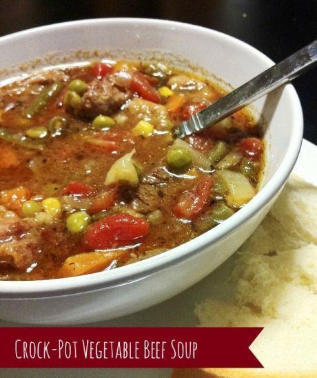 Vegetable Beef Soup Crock Pot  Crock Pot Ve able Beef Soup