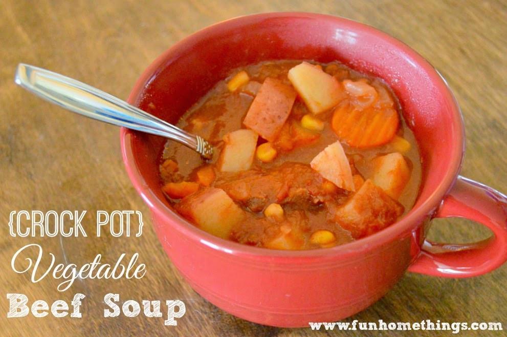Vegetable Beef Soup Crock Pot  Fun Home Things Crock Pot Ve able Beef Soup