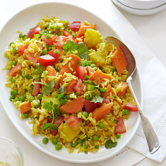 Vegetable Main Dishes  Ve arian Biryani Recipe Quick from Scratch Ve able