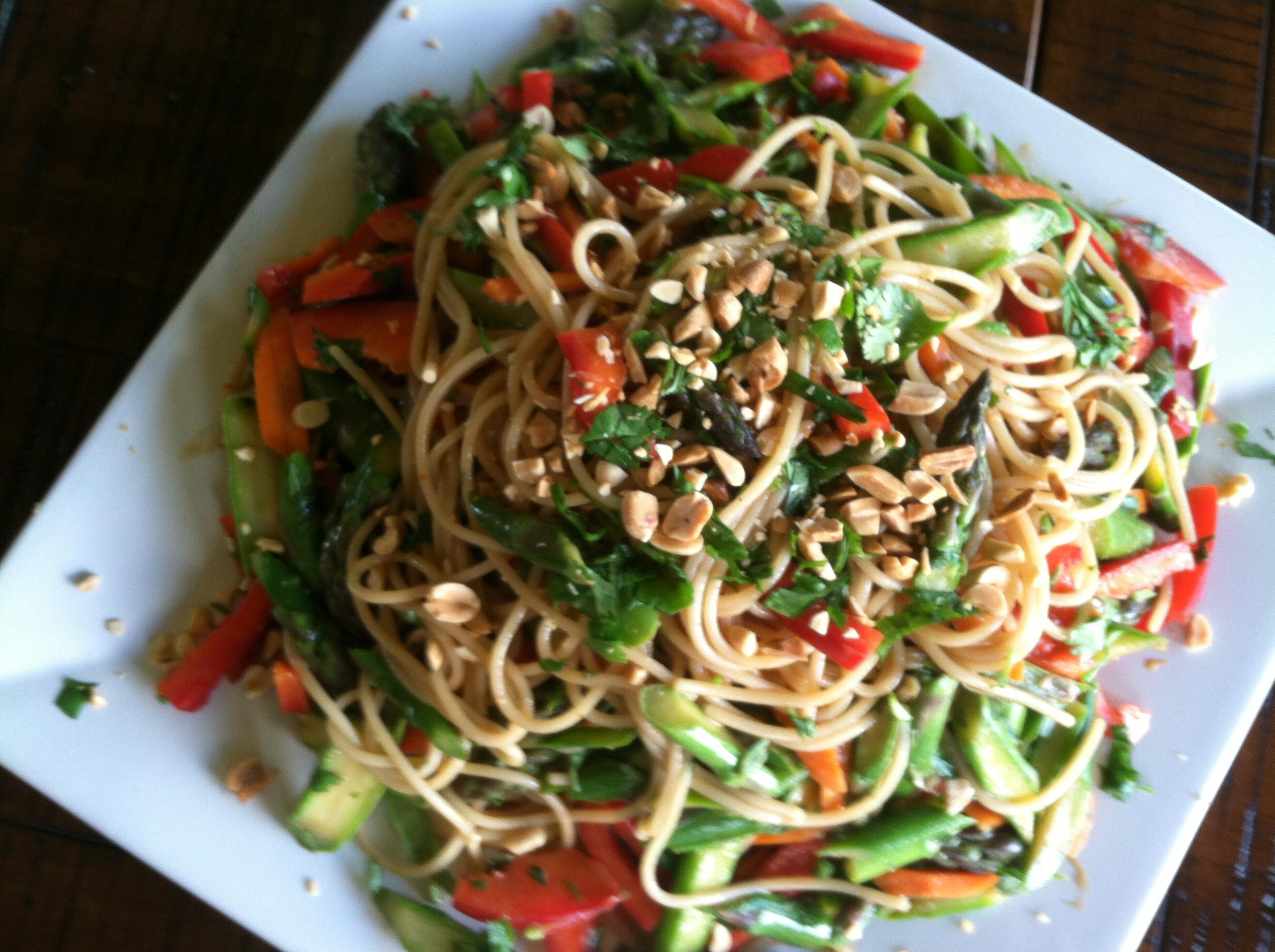 Vegetable Main Dishes  Main Dish Salads Peanut Noodle Ve able Salad Gluten