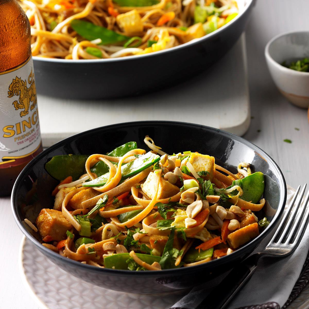 Vegetable Pad Thai  Ve able Pad Thai Recipe