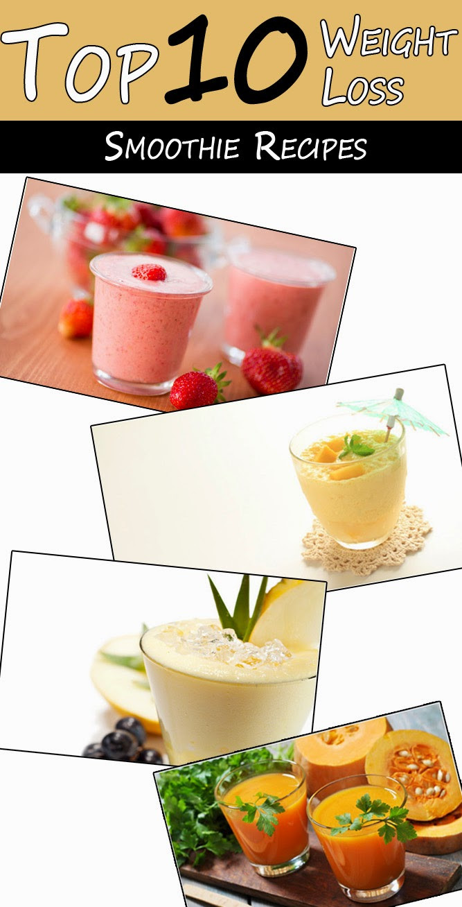 Vegetable Smoothie Recipes For Weight Loss  Top 10 Weight Loss Smoothie Recipes