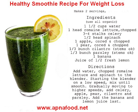 Vegetable Smoothie Recipes For Weight Loss  smoothie recipes for weight loss