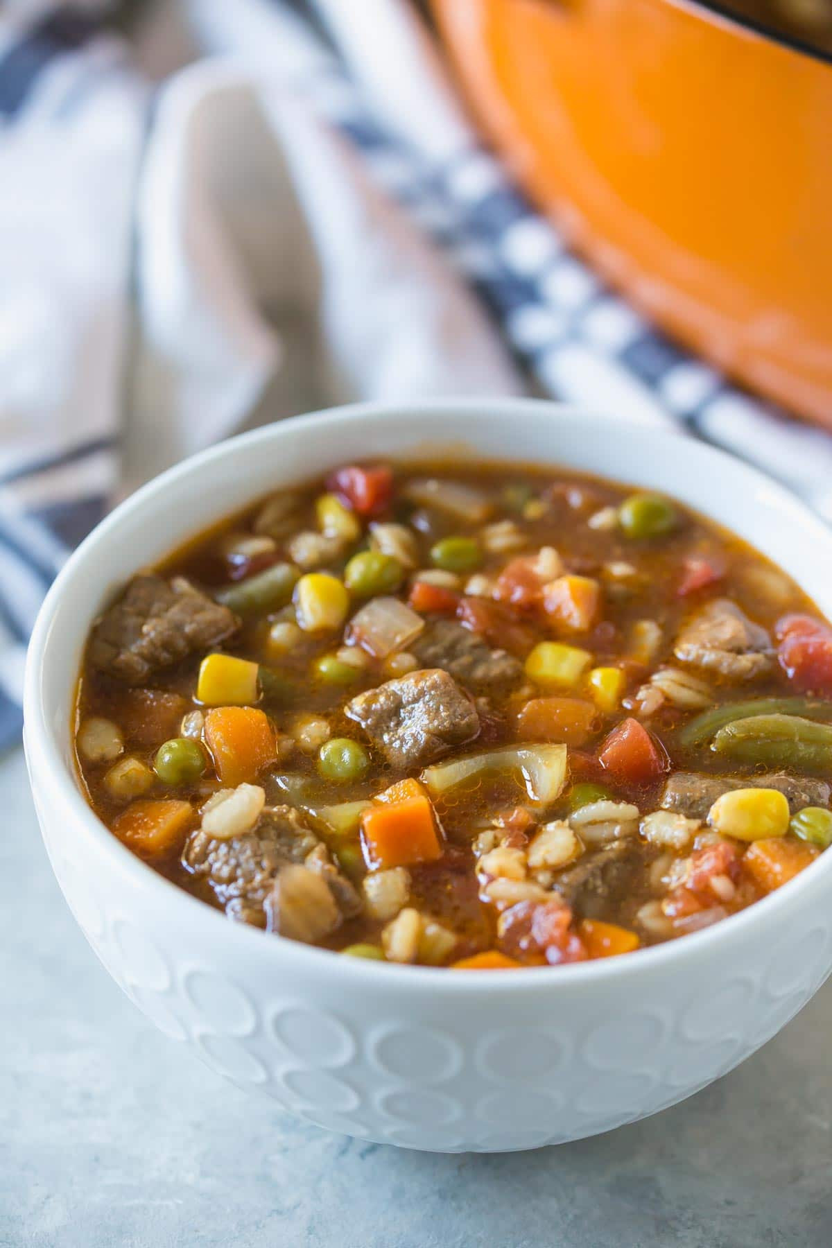 Vegetable Soup With Beef  Recipe Revisited Ve able Beef Barley Soup Simply Whisked